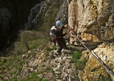Via ferrata in Cheile Turzii